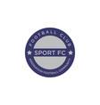 design emblem sport logo vector image