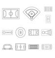 design plan and sport sign set plan vector image