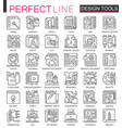 design tools outline mini concept symbols graphic vector image vector image