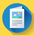 flat brochure icon vector image vector image