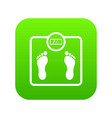 floor scales icon digital green vector image