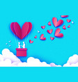 flying cupid - little angel love pink heart in vector image vector image