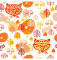 fox pattern vector image