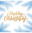 gold christmas text card on white background vector image vector image