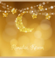 hand drawn ornamental moon and stars festive vector image vector image