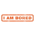 I Am Bored Rubber Stamp vector image vector image