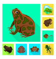 isolated object wildlife and bog logo vector image