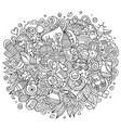 istanbul hand drawn cartoon doodles vector image