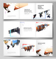 layout square format cover templates vector image vector image