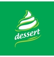 logo dessert vector image vector image