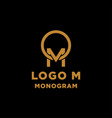 luxury initial m logo design icon element isolated vector image vector image