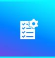 maintenance list icon vector image vector image
