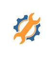 mechanical gear logo vector image