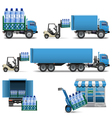Mineral Water Shipping vector image