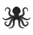 octopus isolated on white background design vector image vector image