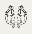 ornamental animal tattoo vector image vector image