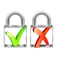 Padlocks with Check Symbols vector image vector image