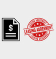 price page icon and distress leasing vector image vector image