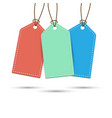 price tags template with shadow vector image vector image