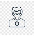 programmer concept linear icon isolated on vector image