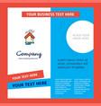raining company brochure template busienss vector image vector image