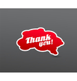 Red board with thank you sign vector image vector image