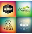 Retro styled summer calligraphic design card set vector image