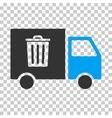 Rubbish Transport Van Eps Icon vector image vector image