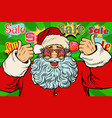 sale background santa claus in the star glasses vector image vector image
