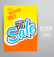 Sale flyer vector image