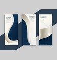 set blue business vertical banners vector image vector image