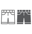 shorts line and glyph icon clothes and summer vector image vector image