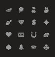 slot machine - flat icons vector image