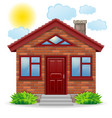 small country house vector image vector image