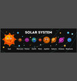 solar system planets with funny faces out in space vector image