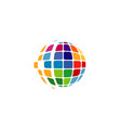 spectrum world pixel logo vector image vector image