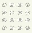 speech bubble line icons vector image