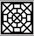 square ornament vector image