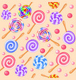 stock seamless background of sweet fruit candy vector image vector image