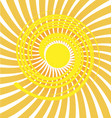 swirly sun icon background vector image