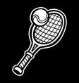 tennis racquet tennis ball vector image vector image