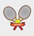 tennis sport equipment icon vector image vector image