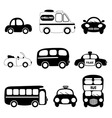 transportation vehicle vector image vector image