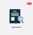 two color investigation icon from law and justice vector image vector image