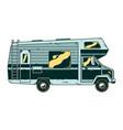 vintage recreational vehicle camper car vector image