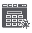 website setup glyph icon setting and service vector image vector image