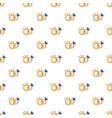wedding rings pattern seamless vector image