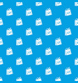 week calendar pattern seamless blue vector image vector image