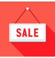 White Sale Sign over Red vector image