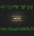 winter holiday background with christmas tree vector image vector image